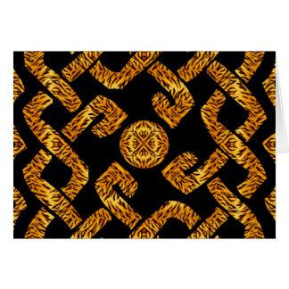 Celtic Weave Tiger Pattern Card