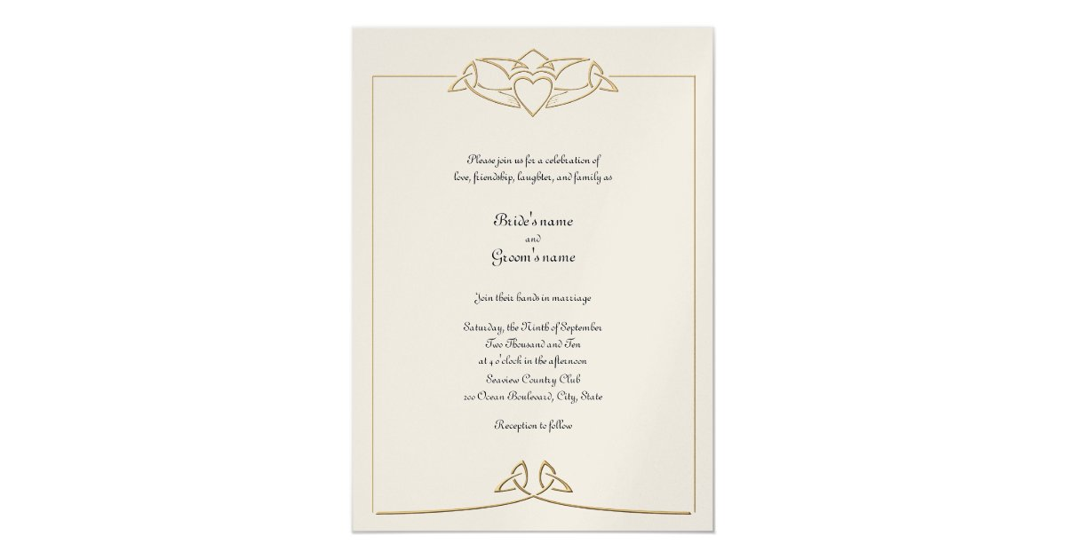 celtic wedding invitation zazzle - Celtic Wedding Invitations