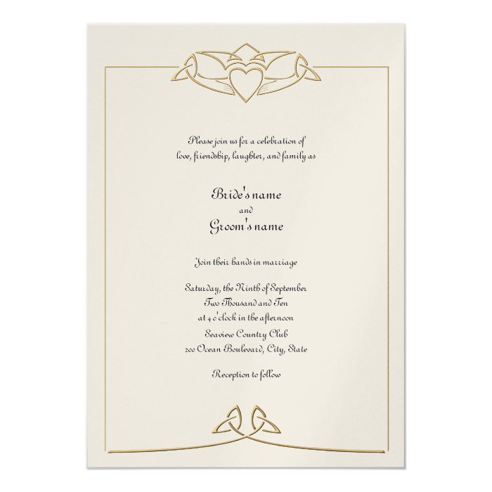 Irish Wedding Invitations: Celtic Wedding Invitation