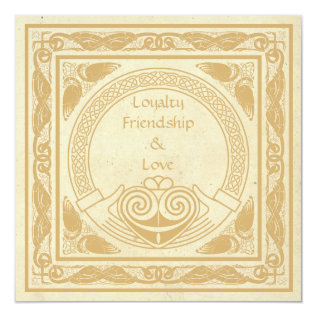Celtic Wedding Invitation With Claddagh. at Zazzle