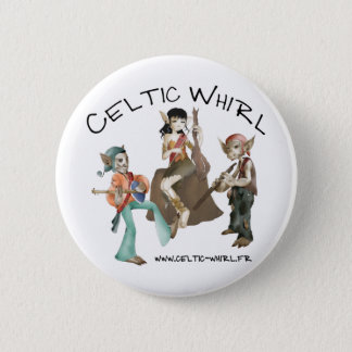 Celtic Whirl swipes in Pinback Button