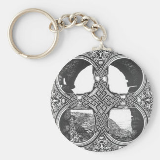 Celtic window arch tattoo keychain