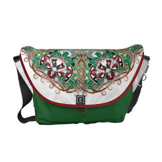 Celtic Winter Fairy Mandala Courier Bag