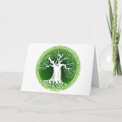 Celtic Wisdom Tree Greeting Cards from Zazzle.