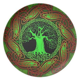 Celtic Wisdom Tree Dinner Plate