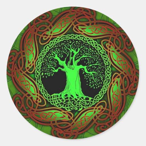 Celtic Wisdom Tree Sticker