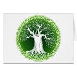 Celtic Wisdom Tree Tarjeta De Felicitación
