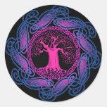 Celtic Wisdom Tree (Ultra Violet version) Stickers