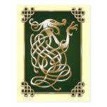 Celtic Wolf - green Postcard