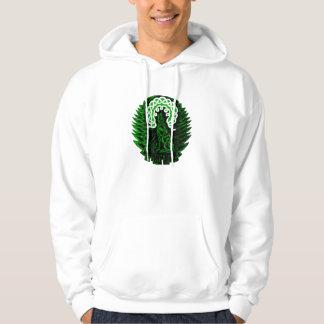 Celtic Wolf/moon, green Hoodie