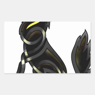 Celtic Wolf Rectangular Sticker