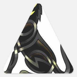 Celtic Wolf Triangle Sticker
