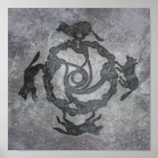 Celtic Wolves Poster