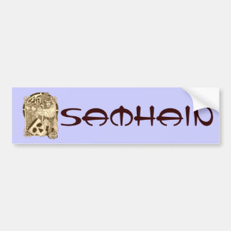 Celtic Woodland Witch Bumper Sticker