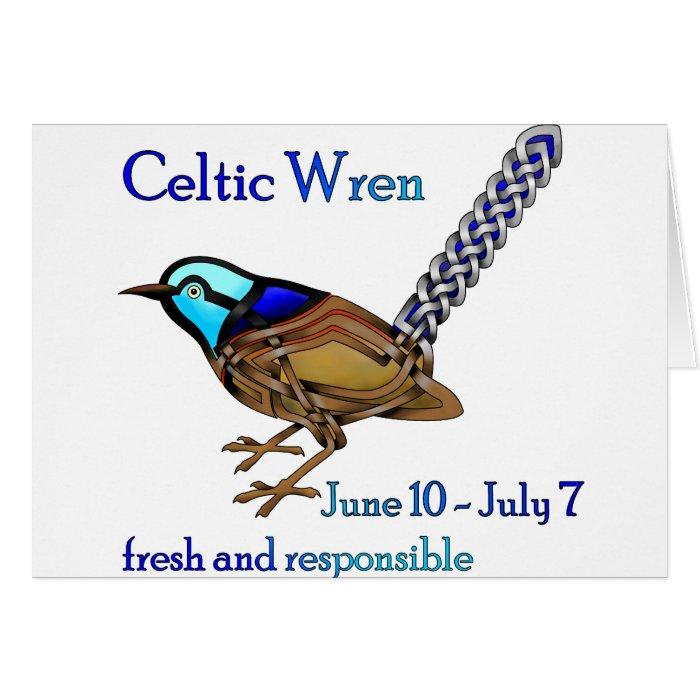 Celtic Wren Card