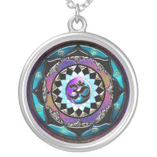Celtic Yin Yang Mandala OM Necklace