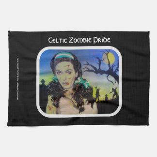 Celtic Zombie Pride American MoJo Kitchen Towel