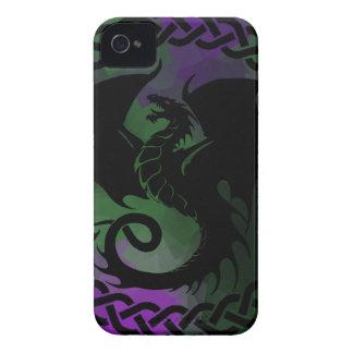 CelticCircleDragonPurpleGreen Case-Mate iPhone 4 Cases