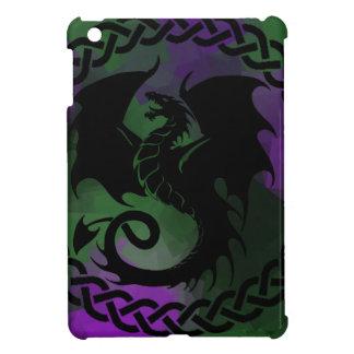 CelticCircleDragonPurpleGreen iPad Mini Covers