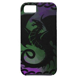CelticCircleDragonPurpleGreen iPhone SE/5/5s Case