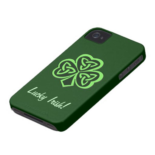 CelticThree Leaf Clover Design Phone Case