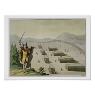 Celts antiguos o Gauls en batalla, c.1800-18 (colo Impresiones