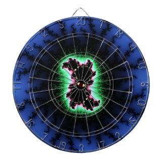 Célula de Julia, arte del fractal - rosa del verde Tablero Dardos