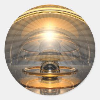 Célula de la energía pegatina redonda
