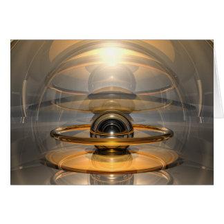 Célula de la energía tarjeta de felicitación