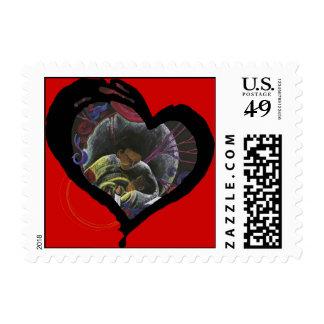 célula falciforme sufrir-roja sellos postales