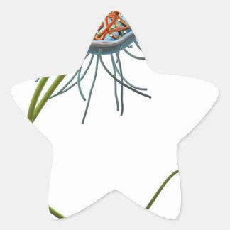 Célula procariótica pegatina en forma de estrella
