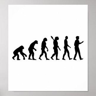 Célula Smartphone de la evolución Poster