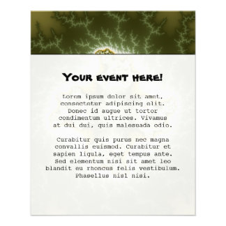 Célula vegetal - arte del fractal flyer personalizado
