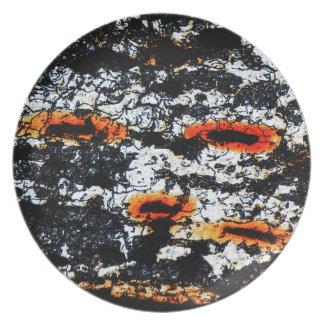 Células dañadas fondo abstracto de la cebolla del platos para fiestas