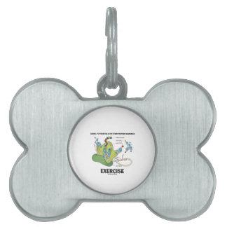 Células de la señal para comenzar ejercicio de la placas de nombre de mascota