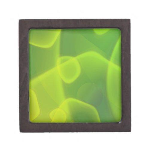 Células de la verde lima caja de joyas de calidad