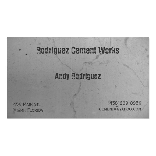 Cement Business Card