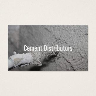 Cement Distributors Mixer Construction Worker Business Card