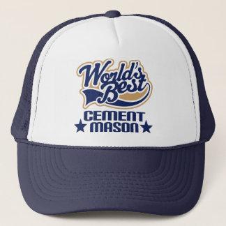 Cement Mason Gift (Worlds Best) Trucker Hat