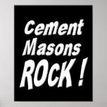 Cement Masons Rock! Poster Print