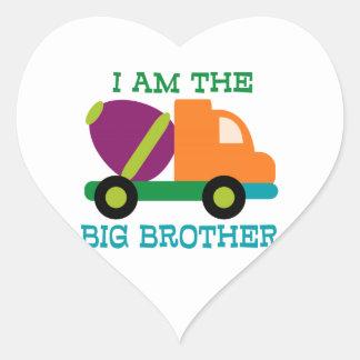 Cement Mixer Big Brother Heart Sticker
