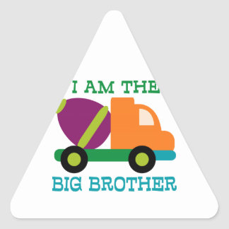 Cement Mixer Big Brother Triangle Sticker
