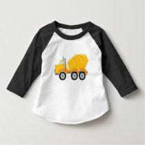 Cement Mixer construction toddler kids t-shirt
