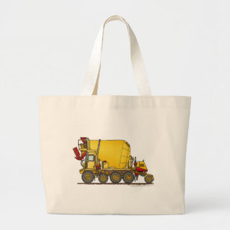 Cement Mixer Front Discharge Truck Construction Ba Large Tote Bag