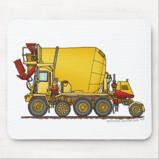 Cement Mixer Front Discharge Truck Construction Mo Mouse Mat