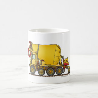 Cement Mixer Front Discharge Truck Construction Mu Classic White Coffee Mug