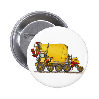 Cement Mixer Front Discharge Truck Construction Pi 2 Inch Round Button