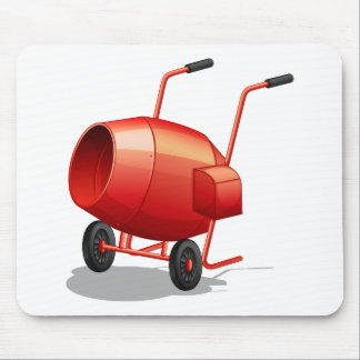 Cement mixer mouse pad