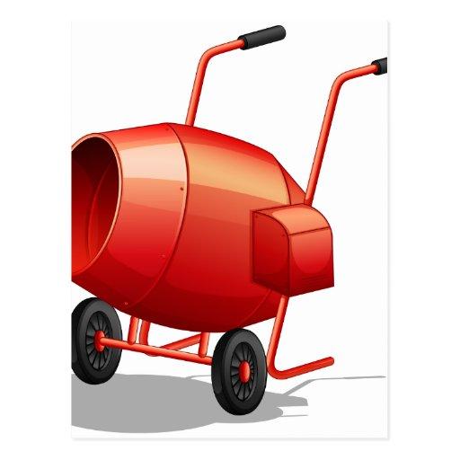 Build Your Own Cement Mixer ~ Cement mixer postcard zazzle