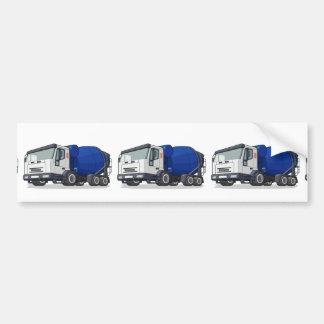 Cement Mixer Truck Bumper Sticker
